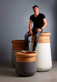 over sized planter that is made from wood and concrete u2013 soma