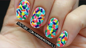 confetti nail art with just polish easy youtube