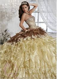 2015 quinceanera dresses brown and gold gown sweet 16 dress 2015 quinceanera dresses