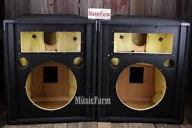 empty 15 inch speaker cabinets jbl sr4725 pair 15 inch empty speaker cabinets 2 loudspeaker reverb