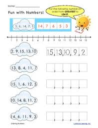 bunch ideas of ordering numbers worksheets grade 1 in template
