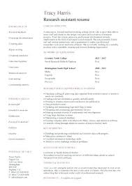 Resume Template No Work Experience Researcher Resume Sample Academic Resume Template 7 Academic