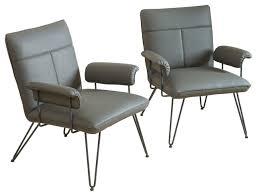 Accent Chair Set Of 2 Bonsallo Modern Vinyl Arm Chair Set Of 2 Scandinavian