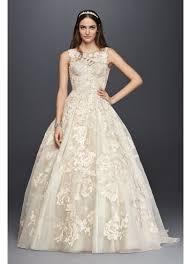 oleg cassini wedding dresses tank lace wedding dress with david s bridal