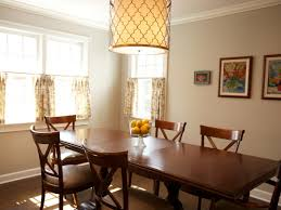 Dining Room Drum Light Interior Black Drum Chandelier Dining Room Wooden Dining