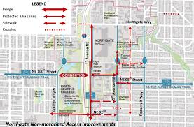 Seattle Bus Map by Support The Northgate Bike Walk Bridge At Tuesday Open House A