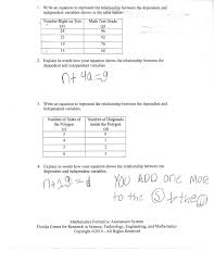 table to equation students are asked to write an equation that