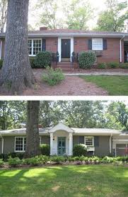 Exterior Paint Color Schemes For Brick Homes - curb appeal 8 stunning before u0026 after home updates brick ranch