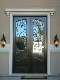 painted front door white trim planters in front of side panels