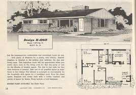 vintage house plans 1950s budget wise ramblers antique alter ego