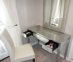 glass bedroom vanity best mirrored vanity desk ideas mirror ideas design of mirrored