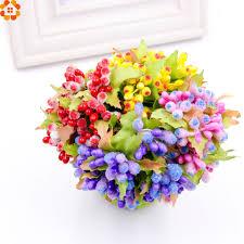 bouquet diy aliexpress com buy 10pcs mini artificial stamen bud bouquet diy