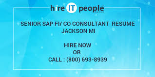 Sap Fico Sample Resume 3 Years Experience by Senior Sap Fi Co Consultant Resume Jackson Mi Hire It People