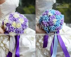 purple and blue wedding best purple and blue wedding flowers new style handflower wedding
