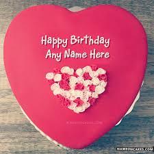 red velvet cake idea to wish birthday with name