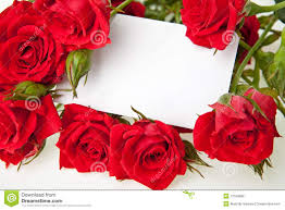 Blank Wedding Invitation Card Stock Red Roses And Blank Invitation Card Stock Photo Image 12199990