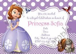 sofia the birthday party sofia the birthday party invitation free thank you card