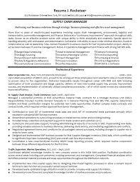 Finance Executive Resume Supply Chain Management Executive Resume Resume For Your Job