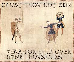 Bayeux Tapestry Meme - image 5433 medieval macros bayeux tapestry parodies know