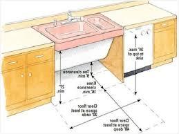 ada kitchen design kitchen sink height for designs ada cabinet requirement