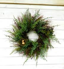 spring wreath spring home decor fern wreath summer wreath