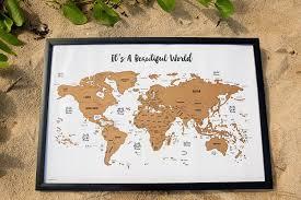 Personalized World Travel Map by Amazon Com Jetsettermaps
