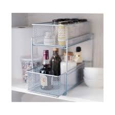 silver wire mesh kitchen cupboard baskets amazon co uk kitchen