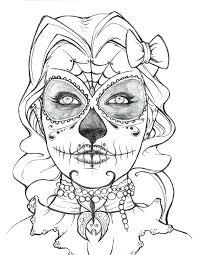 printable coloring pages sugar skulls sugar skull printable coloring pages day of the ad sugar skull adult
