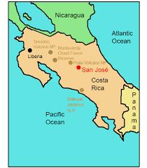 san jose costa rica on map costa rica for