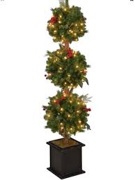 4ft christmas tree 4 12 inches hudson artificial christmas tree topiary with 150