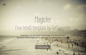 magister free bootstrap template by gettemplate