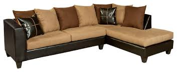 suede sectional sofas flash furniture riverstone sierra chocolate microfiber sectional