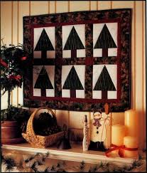 simple elegant christmas trees quilted wall hanging pattern