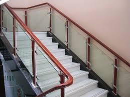 glass stair railing home elegant and safety glass stair railing