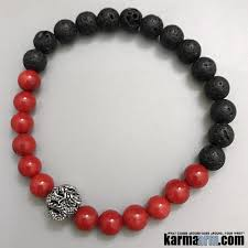 red prayer bead bracelet images Yoga bracelets strength lava red coral dragon chakra jewelry jpg