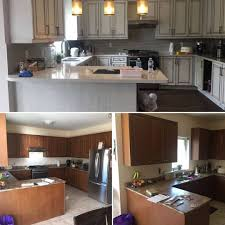 is it better to paint or spray kitchen cabinets best gta kitchen cabinets painting bright coating solutions