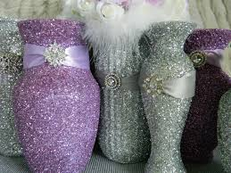 Silver Centerpieces For Table Decoration Foxy Purple Silver Wedding Table Decoration Design