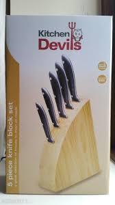 fiskars kitchen knives fiskars kitchen devils 5 knife block set for sale in