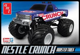 amt nestle crunch chevy monster truck 1 32 scale snap kit