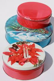 christmas tins 1950s vintage christmas tins for candy cookies w retro