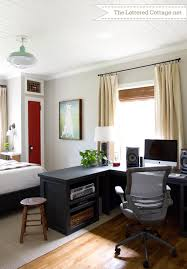 home office in bedroom home office guest bedroom reveal the lettered cottage