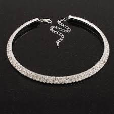 crystal silver necklace images Necklaces jpg