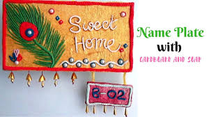 diy handmade name plate making with cardboard and soap wall diy handmade name plate making with cardboard and soap wall murals door hanger