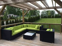 Outdoor Patio Furniture Sectional Lovett The Outdoor Patio Furniture Sectional With Sunbrella