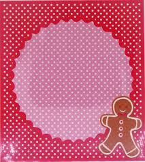 gingerbread man christmas cookie candy snack party favor gift bags