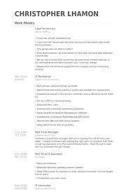 Technician Resume Samples lead technician resume samples visualcv resume samples database