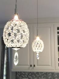 kitchen u0026 dining single light crystal pendant lighting for