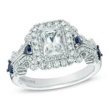 emerald cut rings images Vera wang love collection 1 1 8 ct t w emerald cut diamond and jpg