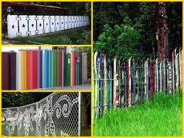 20 cheap and creative fence ideas