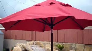 7 Foot Patio Umbrella by Abba Patio 7 1 2 Ft Round Outdoor Market Patio Umbrella Red
